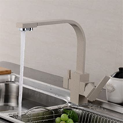 Ysrbath Contemporary Kitchen Sink Mixer Monobloc Tap Brass Hot And