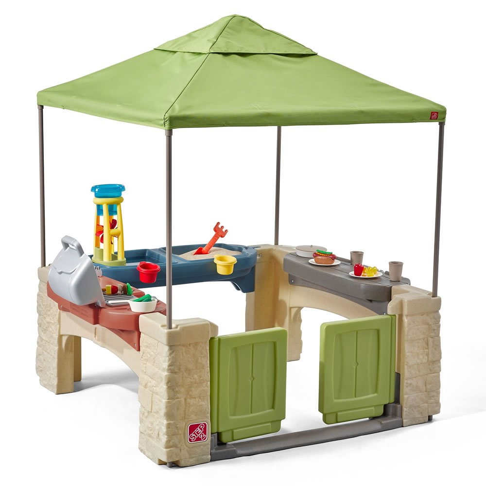 Amazon.com: Step2 All Around Playtime Patio with Canopy Playhouse ...