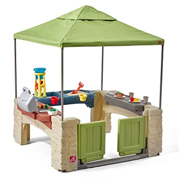 Amazon.com: Step2 All Around Playtime Patio With Canopy Playhouse: Toys U0026  Games