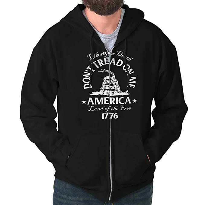 Dont Tread on Me Snake Flag Political USA Zip Hoodie