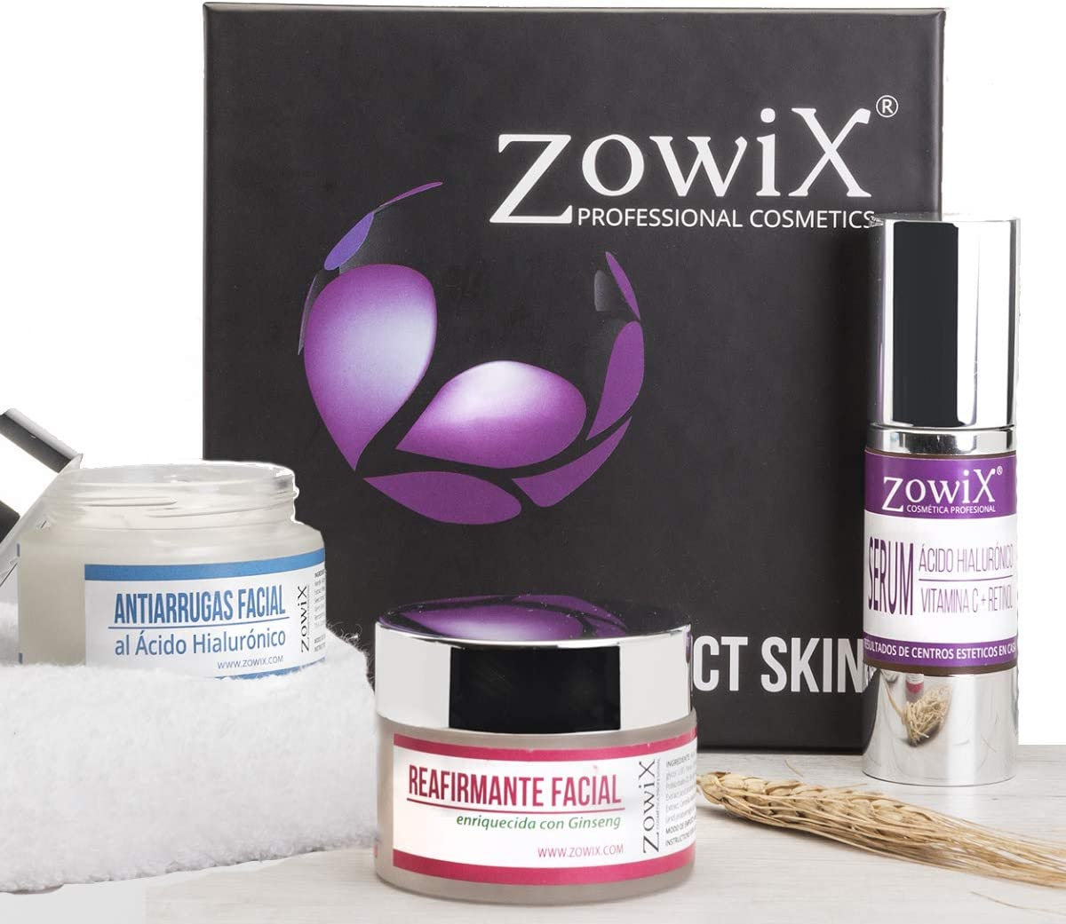 Zowix Regalo para el día de la madre. Lote cremas antiarrugas, lifting y serum facial. Pack regalo mujer de Cosmetica Natural. Kit de belleza natural. Sin parabenos