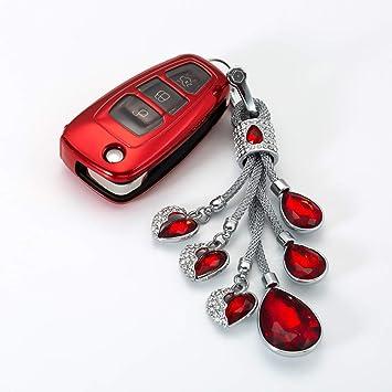ZYYSK Para Soft TPU Car Key Case Llavero para Ford Focus 2 ...