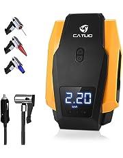 CATUO Compresor de Aire para Coche con Pantalla Digital Auto Apagado,Luz LED, 12V
