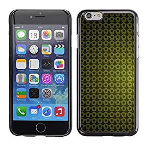 Paccase / SLIM PC / Aliminium Casa Carcasa Funda Case Cover - Texture Green Yellow - Apple Iphone 6