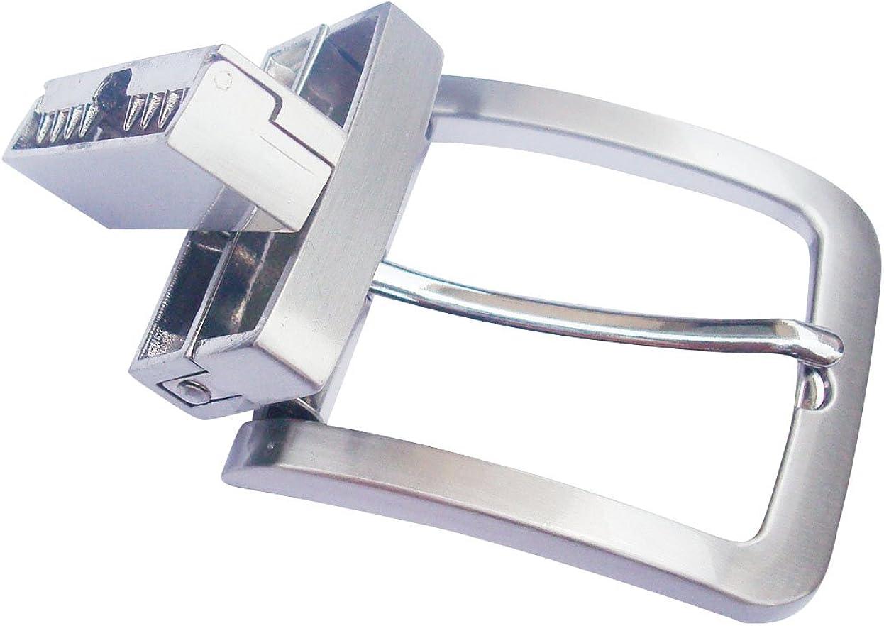 35 uomini 1-3//8 zinco solido la fibbia della cintura di cuoio fibbia a capo automatico ratchet