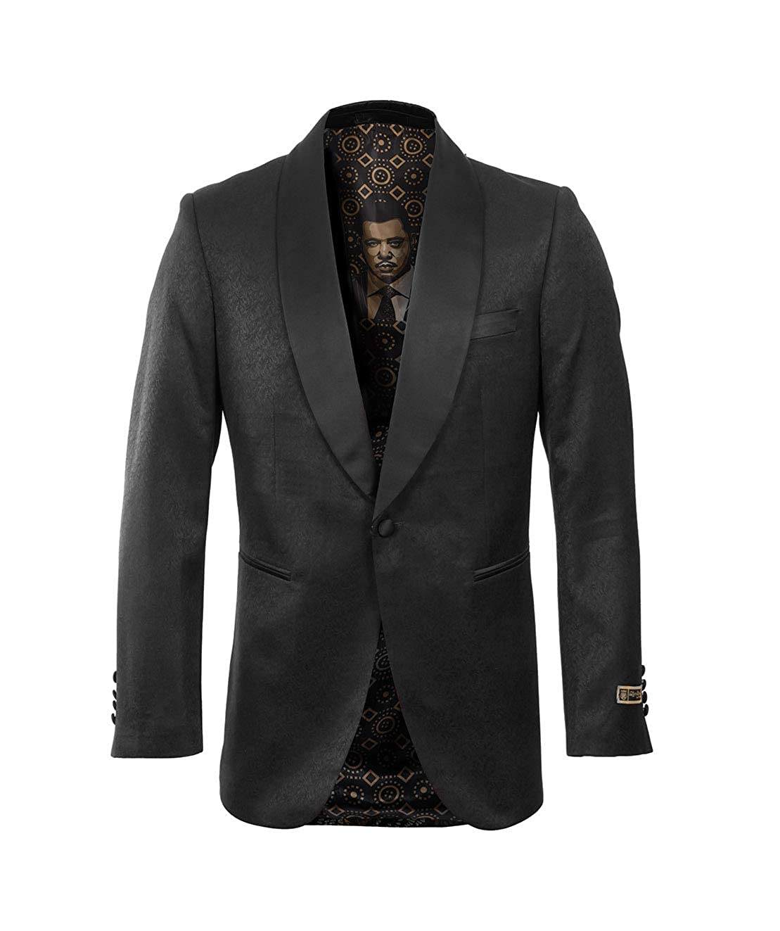 Mens Hybrid Fit Paisley Satin Shawl Lapel Dinner Jacket