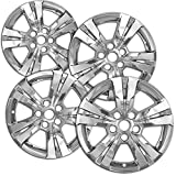 OxGord 17 inch Hubcap Wheel Skins for 2010-2015 Chevrolet Equinox-(Set of 4) Wheel Covers- Car Accessories for 17inch Chrome Wheels- Auto Tire Replacement Exterior Cap Cover