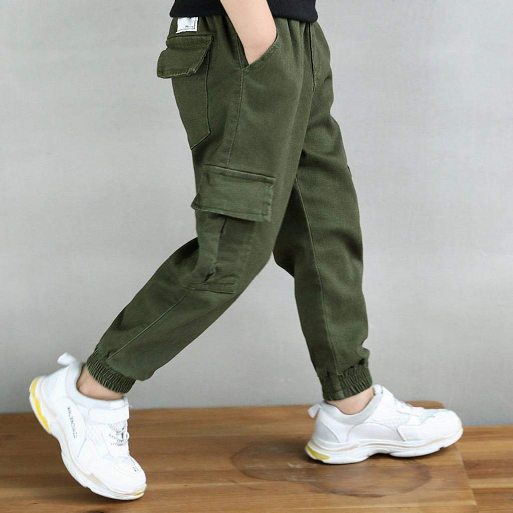 Cneokry Boys Sweatpants Camo Jogger Sports Pants Elastic Waist Size 4-14 Years