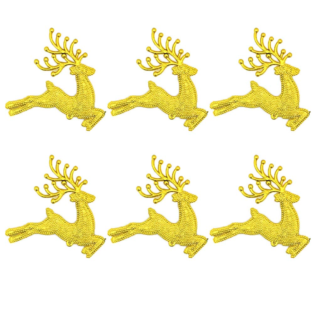 Bluelans Christmas Decorations, 6Pcs Christmas Butterfly Angel Elk Deer Hanging Ornament Xmas Tree Window Decor Xmas Gifts Xmas Stocking Fillers