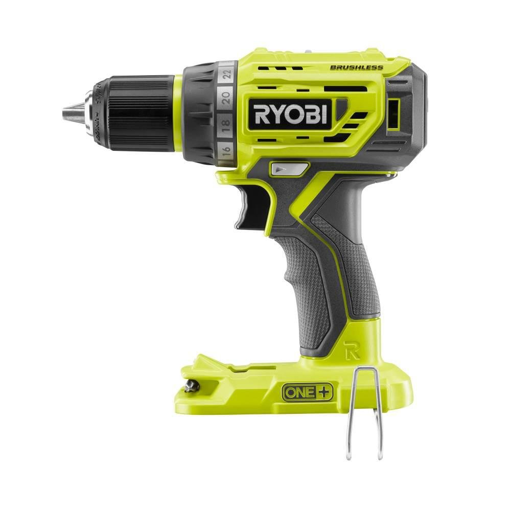 Charger and Bag 2 Ryobi P1815 18-Volt ONE+ Lithium-Ion Cordless Brushless 1//2 in 2.0 Ah Batteries Drill//Driver with