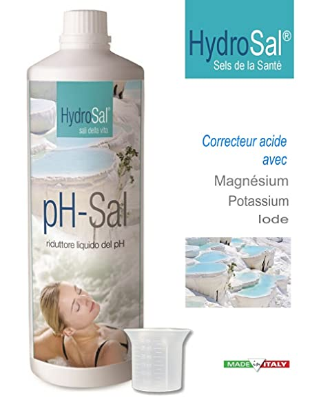 HydroSal Reductor de pH Ajouté de Sales minerales (magnesio, potasio, YODO) para