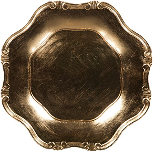 Gold Leaf Charger (Palais Dinnerware 'Plaque De Charge' Collection - 13
