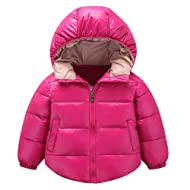 XoiuSyi,Kids Baby Girl Boys Winter Cozy Hooded Coat Cloak Jacket Thick Warm Outerwear Clothes