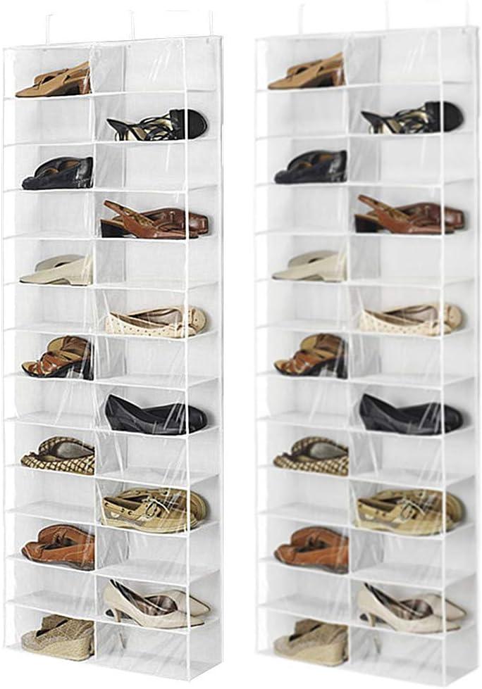 chunnron Organizador Armario Organizador Wardrobe Organiser Hanging Storage Bag Wall Storage Handbag Storage Over Door Shoe Storage Wardrobe Storage White