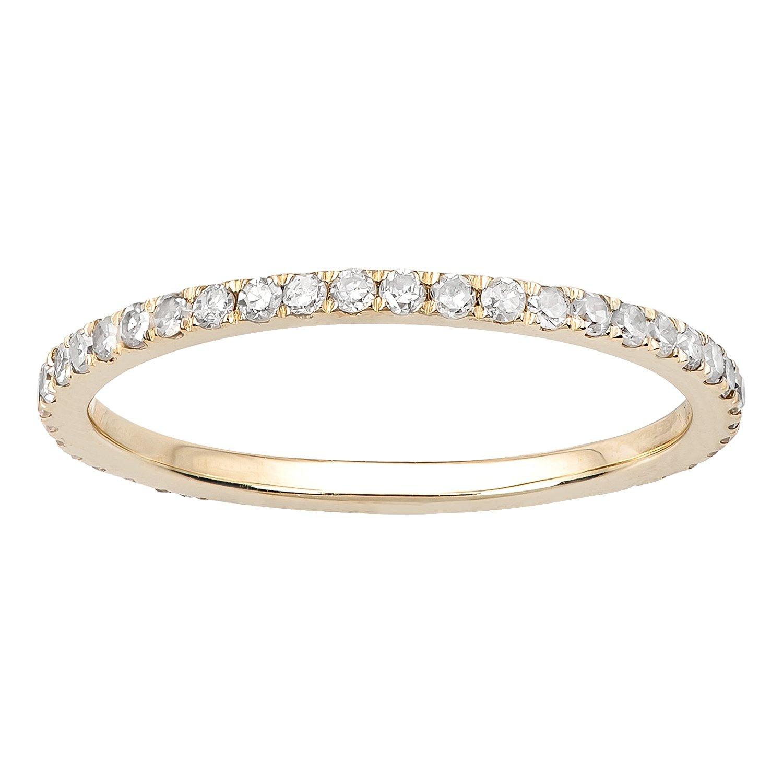 10k Yellow Gold Pave Eternity Diamond Wedding Band (1/2 cttw, I-J Color, I2-I3 Clarity)