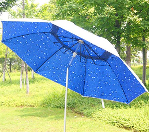 Onfly Outdoor Parasols Fishing Umbrella,UV Protection,Multi-angle Adjustment,folding Portable Canopy,aluminum Bracket,Leisure Beach Umbrella With Storage Bag,for Sports Party Garden -