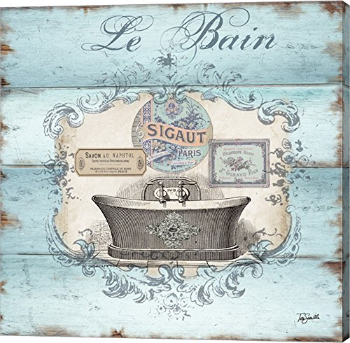 Rustic French Bath II by TRE Sorelle Studios Canvas Art Wall Picture, Gallery Wrap, 12 x 12 inches