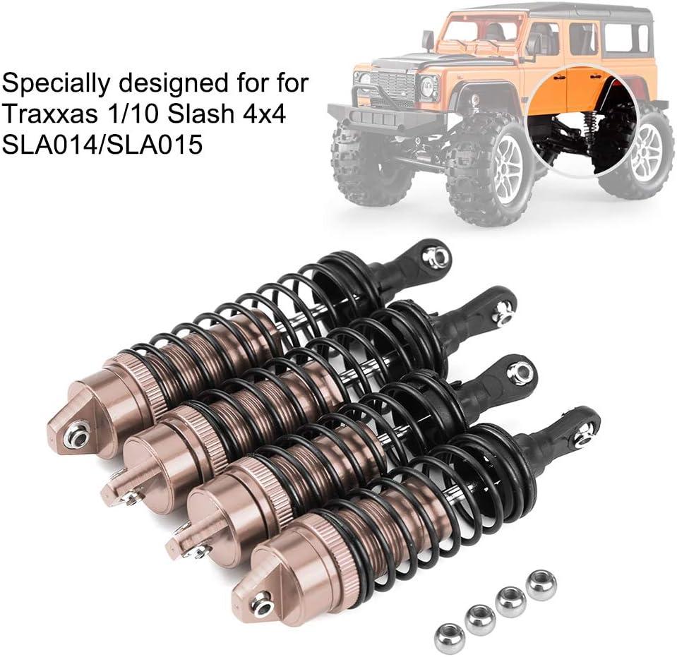 SLA015 V GEBY Amortiguador RC de 2 Pares Amortiguador de Choque Trasero Delantero de Metal Compatible con Traxxas 1//10 Slash 4x4 SLA014