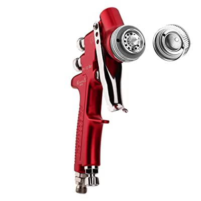 Shiningeyes HVLP Spray Gun Gravity Feed Paint Gun 500ml Cup,1.4mm Nozzle, Red: Automotive