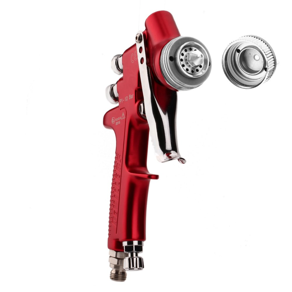 Pistola Para Pintar HVLP 500ml taza 1.4mm Boquilla Rojo