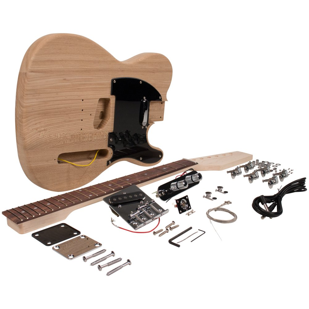 Seismic Audio - SADIYG-05 - DIY Classic Tele Style Electric Guitar Kit - Unfinished Luthier Project Kit Seismic Audio Speakers Inc.