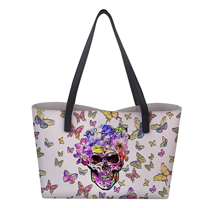 60e2e7fa0a58 Amazon.com: Santiro Butterfly Skull High-Definition Printing For ...
