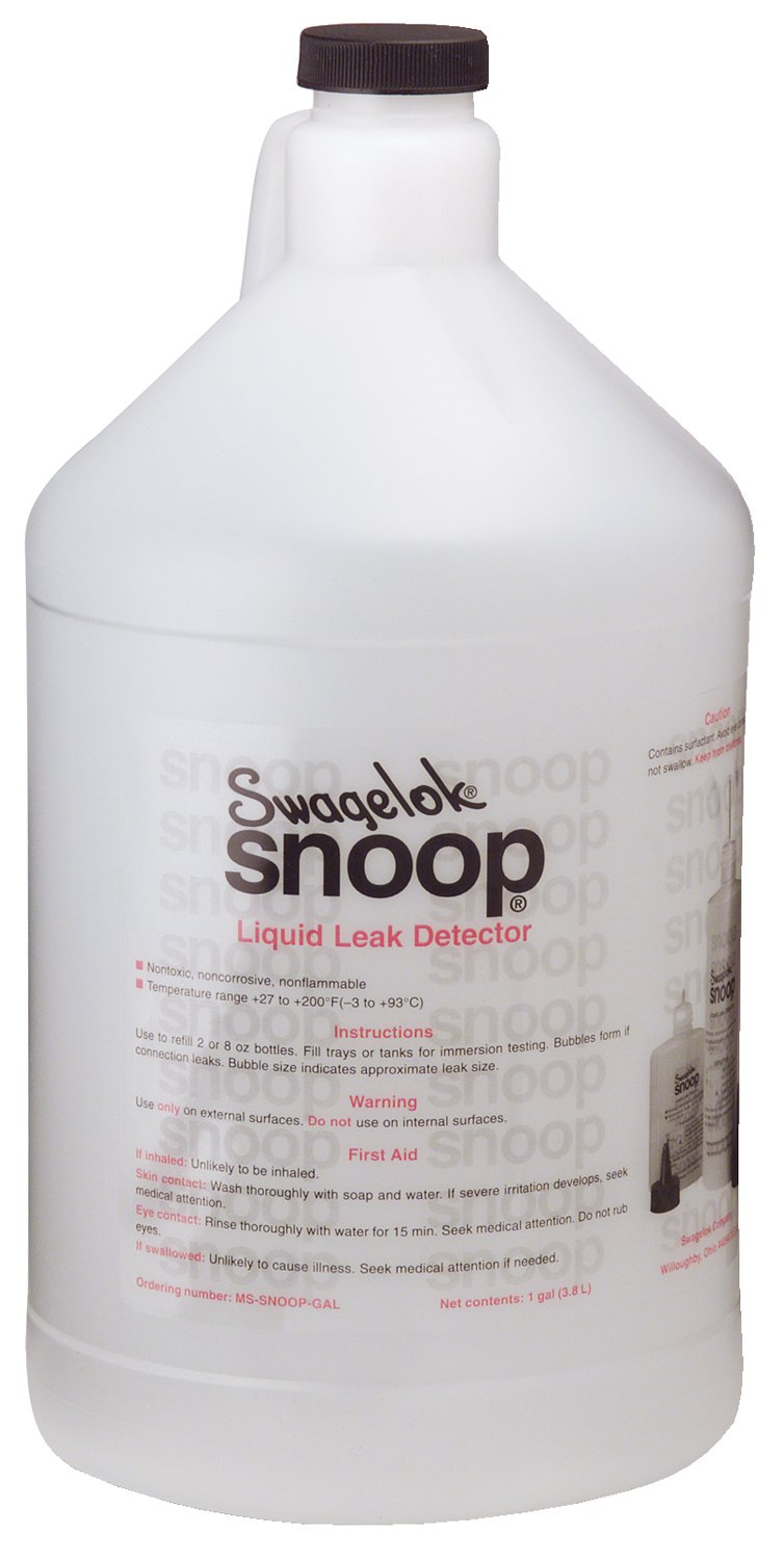 Snoop Leak 1GAL-SNOOP Plastic Bottle Snoop Tul-Val