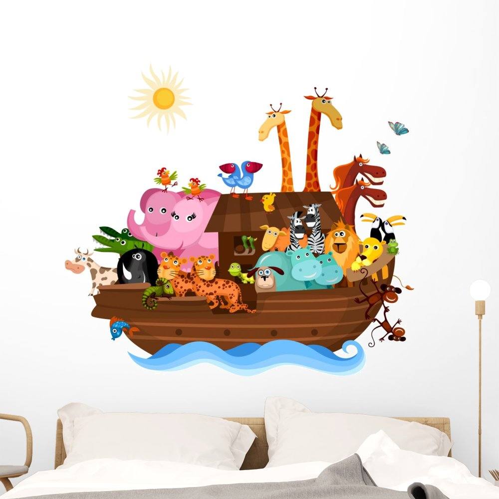 Wallmonkeys FOT-29574333-48 WM316202 Noahs Ark Peel and Stick Wall Decals (48 in W x 43 in H), Extra Large