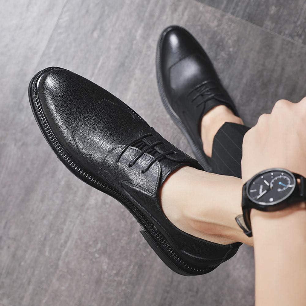 Wsreyj Halbschuhe Herren Business Casual Schuhe Britische Jugend Kleid Schuhe Leder Schwarz udZQc