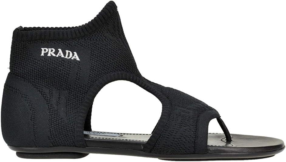 Stretch Sock Logo Sandals Shoes Black