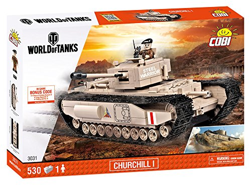 COBI COB03031 World Churchill 1 Tank (530 Pcs) Toy, Various