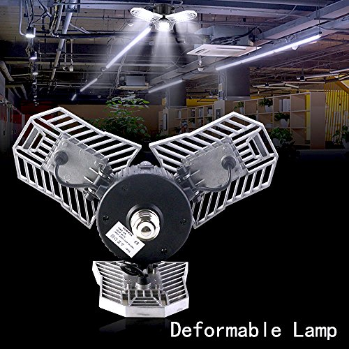 Deformable Lamp Bay Lighting, Ceiling Light Bulbs Garage Light, Mworld Motion Sensor LED Flood Lights, Motion Activated Light, Indoor Lighting Security Lights for Garage, Warehouse (Ordinary 2) by Myteaworld (Image #5)