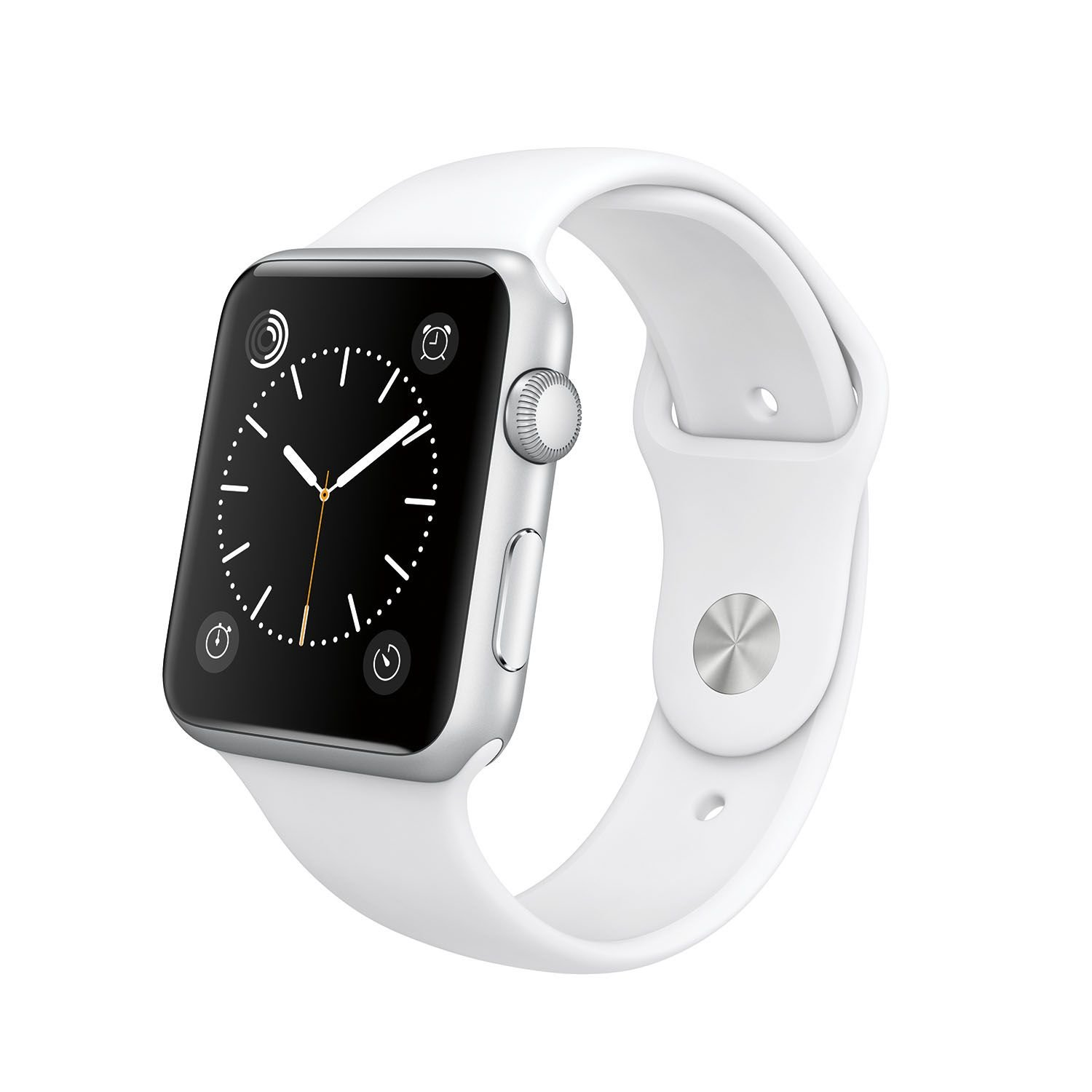 Original Apple Watch 42mm (fits 5.5'' - 8.2'' wrists) - Silver Aluminum Case, White Sport Band Edition (Retail Packaging)