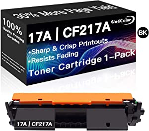 Compatible 17A Printer Toner Cartridge CF217A Used for HP Laserjet Pro MFP M130fw M102w M130a M130nw M130fn M102a (Black, 1-Pack), by Go4Color