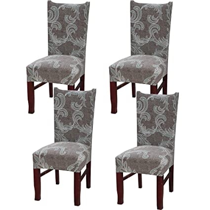 Incredible Wanyig Modern Stretch Dining Chair Slipcovers Universal Spandex Dining Room Chair Covers Banquet Chair Seat Protector Removable Washable Chair Pdpeps Interior Chair Design Pdpepsorg