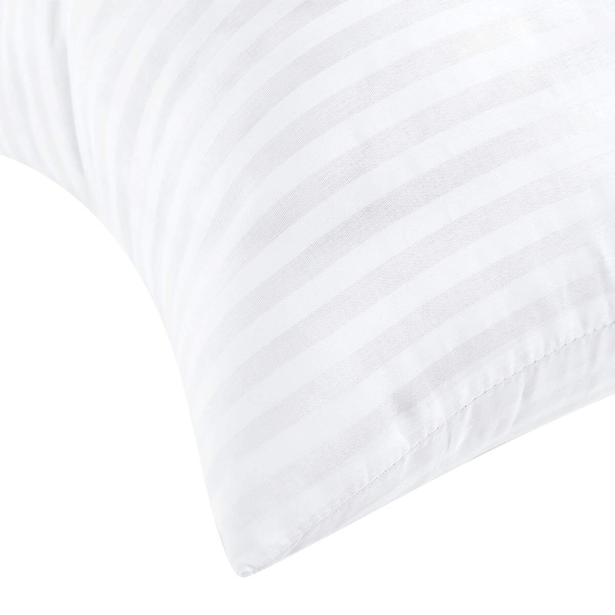 Set of 2-18 X 18 Hypoallergenic Polyester Stuffer Decorative Cushion Form White 1800090-2 Kingnex Square Throw Pillow Inserts