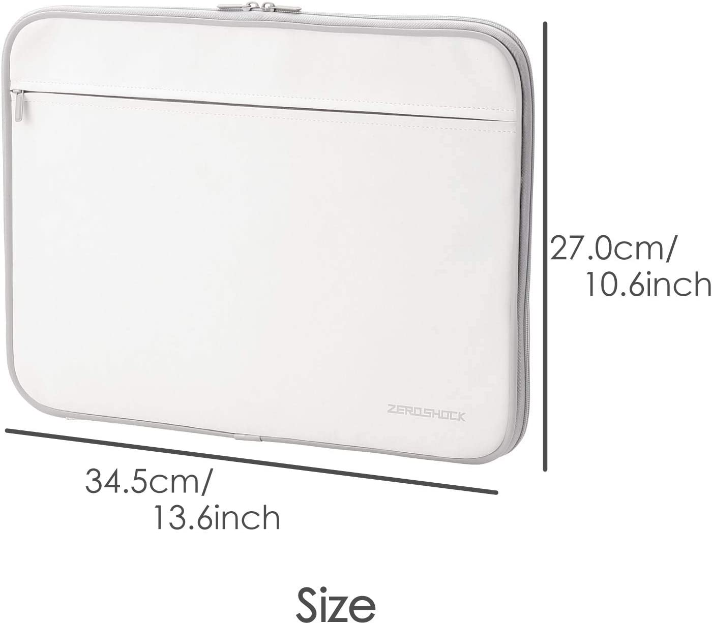 13.3 inch Conpatible with MacBook Air 13 Surface Tablet//White//ZSB-IBN13WH iPad Pro ELECOM Zero Shock Protective Sleeve//Water Resistance