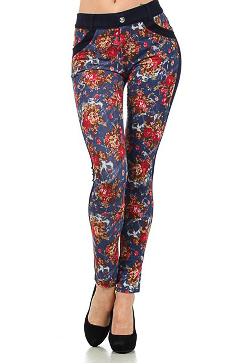 ICONOFLASH Women's Floral Jeggings (Floret, S/M) by ICONOFLASH