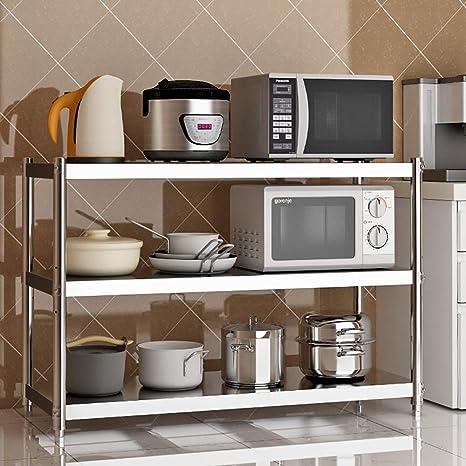 Shelf Rack de Unidades de Cocina multifunción, Rack de 3 estantes ...