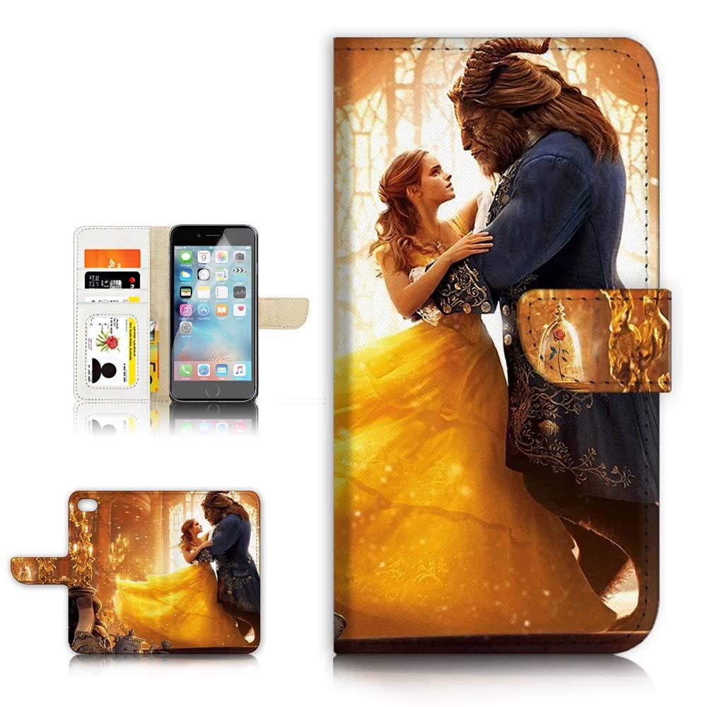 iPod Touch 5 6 / iTouch 5 6 Flip 財布ケースカバー & スクリーンプロテクターバンドル - A0879 Beauty and Beast   B07N7TBVWW