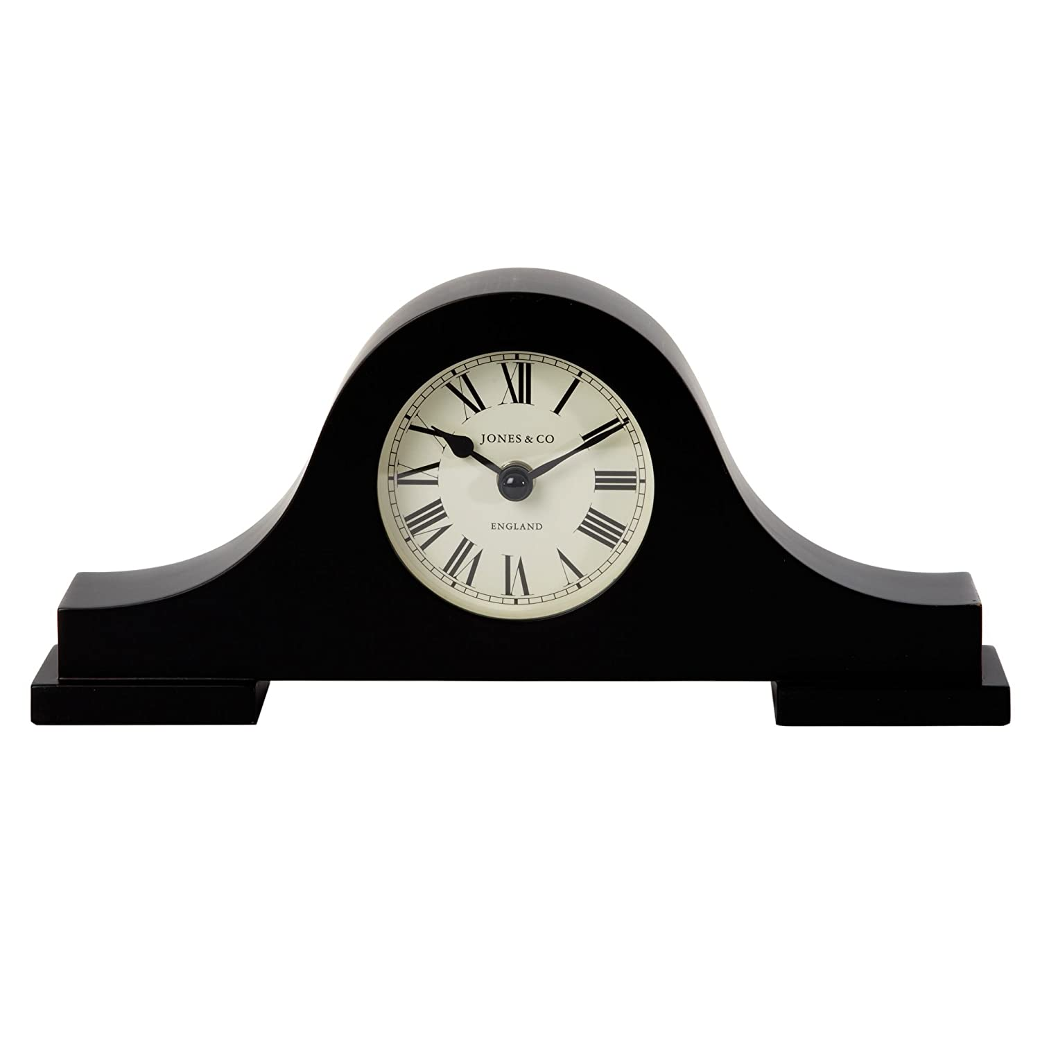 Jones black bailey mantel clock jones amazon kitchen home amipublicfo Image collections