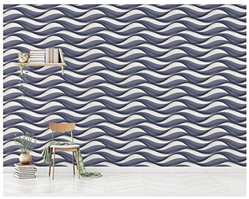 3D Wallpaper Mural Three-Dimensional Embossed Pattern Background Wall Paper Mural Silk Mural Ayzr (Pattern 3 Silk)