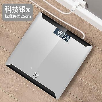 OPPP Báscula electrónica baño Báscula de pesaje electrónica de Alta precisión de baño Digital USB de