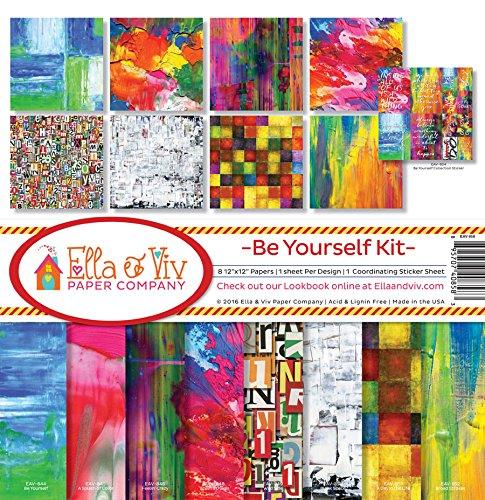 Ella & Viv by Reminisce EAV-858 Ella & Viv Be Yourself Scrapbook Collection Kit