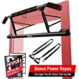 IRON AGE Pull Up Bar for Doorway - Angled Grip Home Gym Exercise Equipment - Pullupbar with Shortened Upper Bar and…