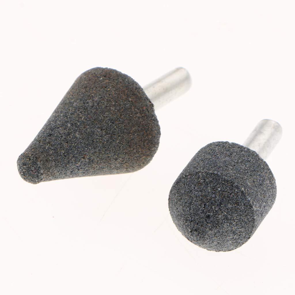 SM SunniMix 2Pieces Grinding Wheels Cylindrical Shape Abrasive Stones Electric Grinder