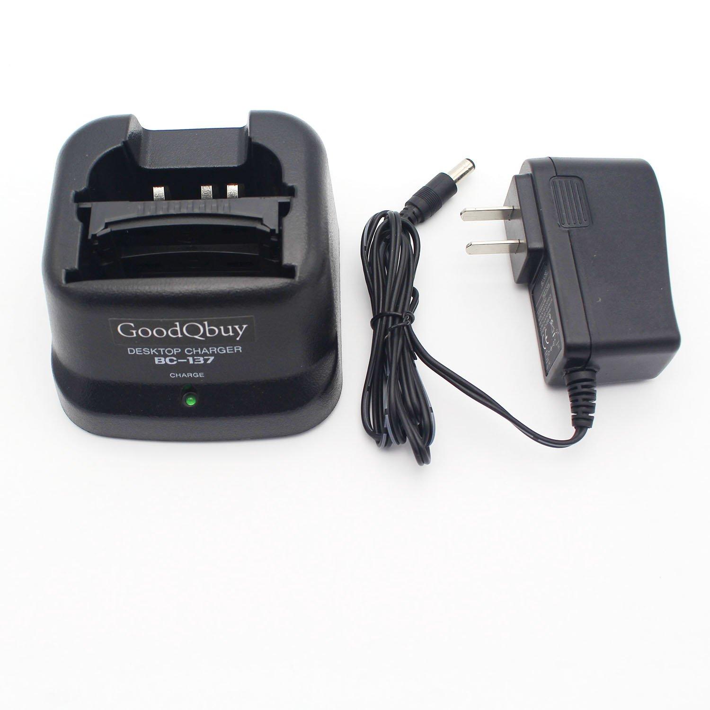 GoodQbuy® Rapid Quick Charger for Icom Radio IC-A24 IC-F4GT IC-F30GT IC-T3H IC-V8 BP-209N BP-210N BP-211N BP-222N BC-137