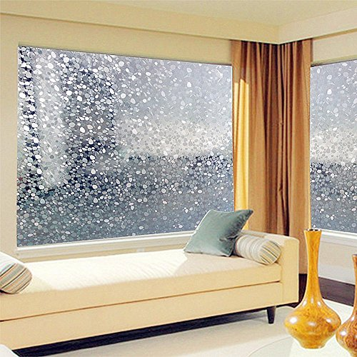 Cobblestone Waterproof Frosted Privacy Home Bathroom Window Glass Self Adhesive Static Film Sticker 45x100cm