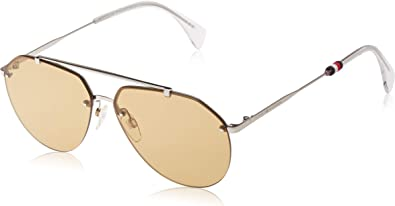 Silver 60 mm Tommy Hilfiger Th1598s Aviator Sunglasses