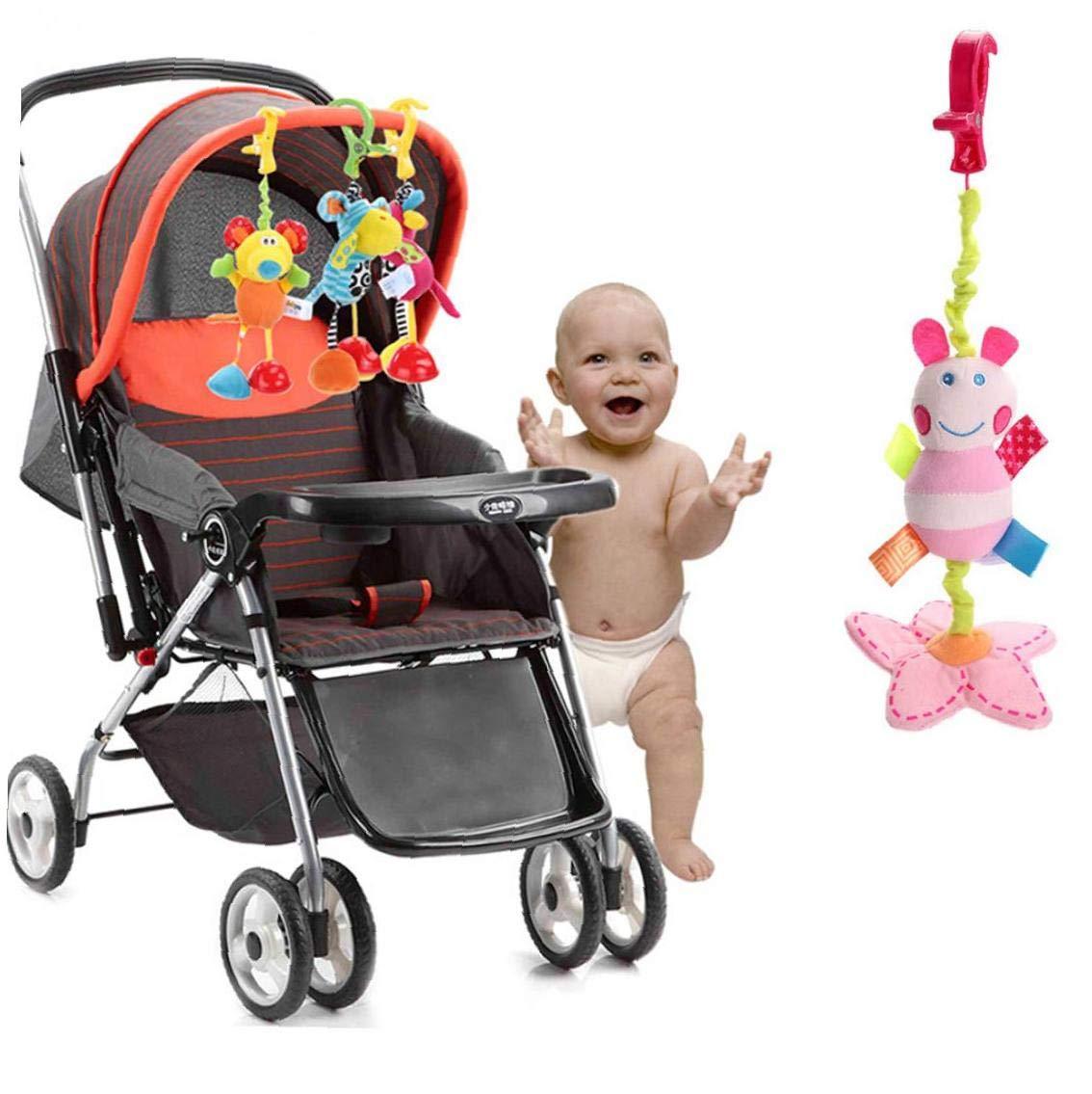 Fuerte y hermoso beb/é Carro Gentle Care para la madre y el beb/é los productos Cochecito para la cama colgante del juguete del beb/é que cuelga Tire juguete de la mariposa del traqueteo de la